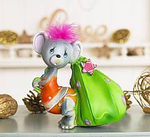 Копилка мышка с сумочкой 12*13*10 см Гранд Презент 026 A 044-1
