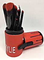 Набор кистей Kylie 12в1 тубусе (красный)