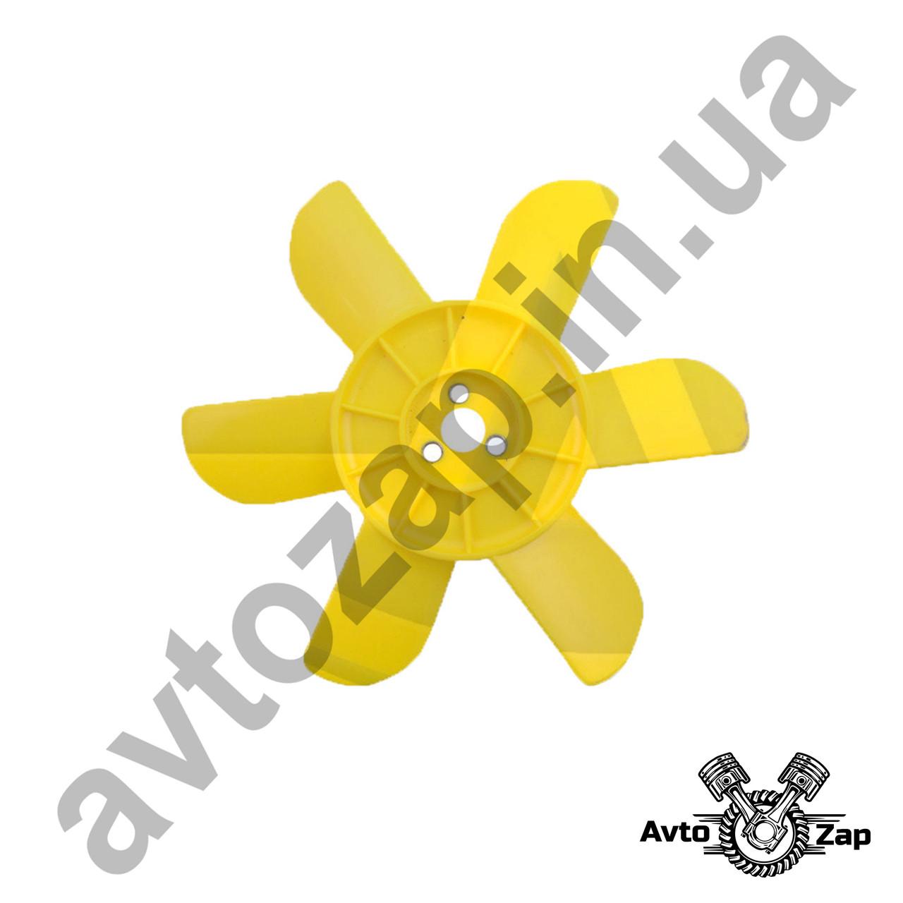 Крыльчатка вентилятора радиатора ВАЗ 2101-07 6 лоп. с метал. втулкой,желтая      31086