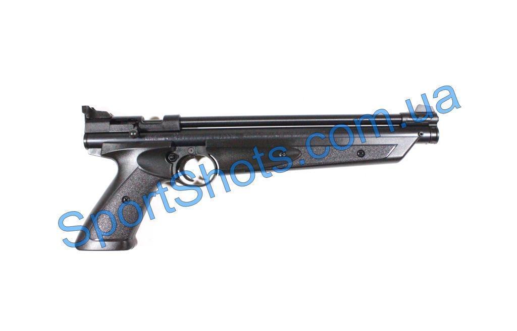 Пневматический пистолет Crosman American Classic P1377BL черный мультикомпрессионный 183 м/с