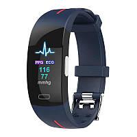 Умный фитнес браслет Lemfo P3 Plus с ЭКГ и тонометром (Сине-красный), фото 1
