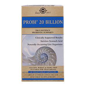 Solgar PROBI 20 billion 30 капсул. (Пробиотическая добавка Солгар ПРОБИ 30 капсул)