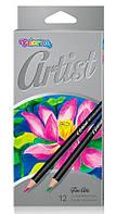 Карандаши цветные Рremium, 12 цветов, Artist, Colorino (65498PTR)