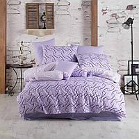 Постельное белье Majoli ранфорс Magic Lilac Двуспальный евро комплект