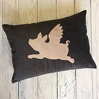Декоративная подушка Pillow Design Свинка серая 36x50 см