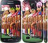 "Чехол на Samsung Galaxy S4 mini Любимая футбольная команда ""2177c-32"""