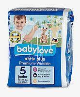 Подгузники Babylove aktiv plus Junior (12-25 кг) 36 шт.