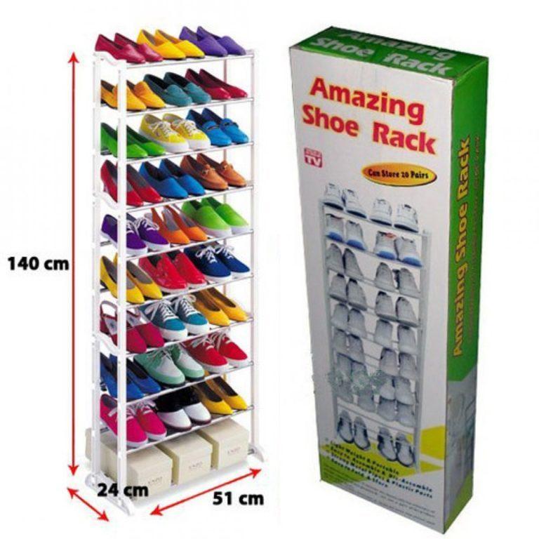 Полка для обуви Amazing Shoe Rack органайзер 10 полок на 30 пар обувница стеллаж стойка модульный хит