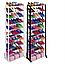 Полка для обуви Amazing Shoe Rack органайзер 10 полок на 30 пар обувница стеллаж стойка модульный хит, фото 8