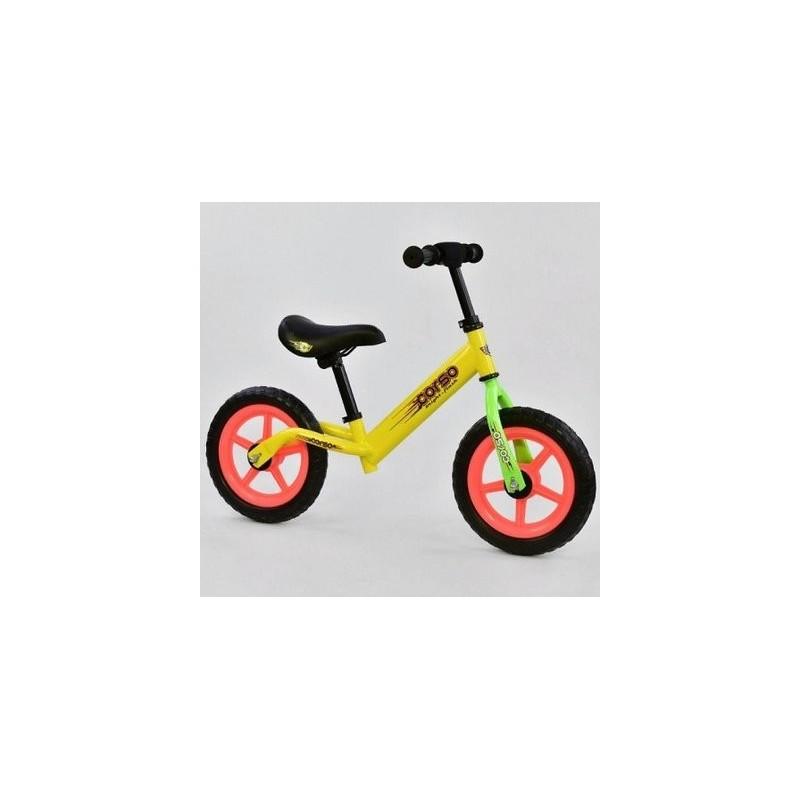 """Детский велобег """"Corso"""" стальная рама, колесо 12"""" EVA (ПЕНА) в цветах"""