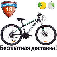 """Горный велосипед алюминиевый 26"""" Formula THOR 2.0 DD 2019 (черно-зеленый, рама 14"""")"""