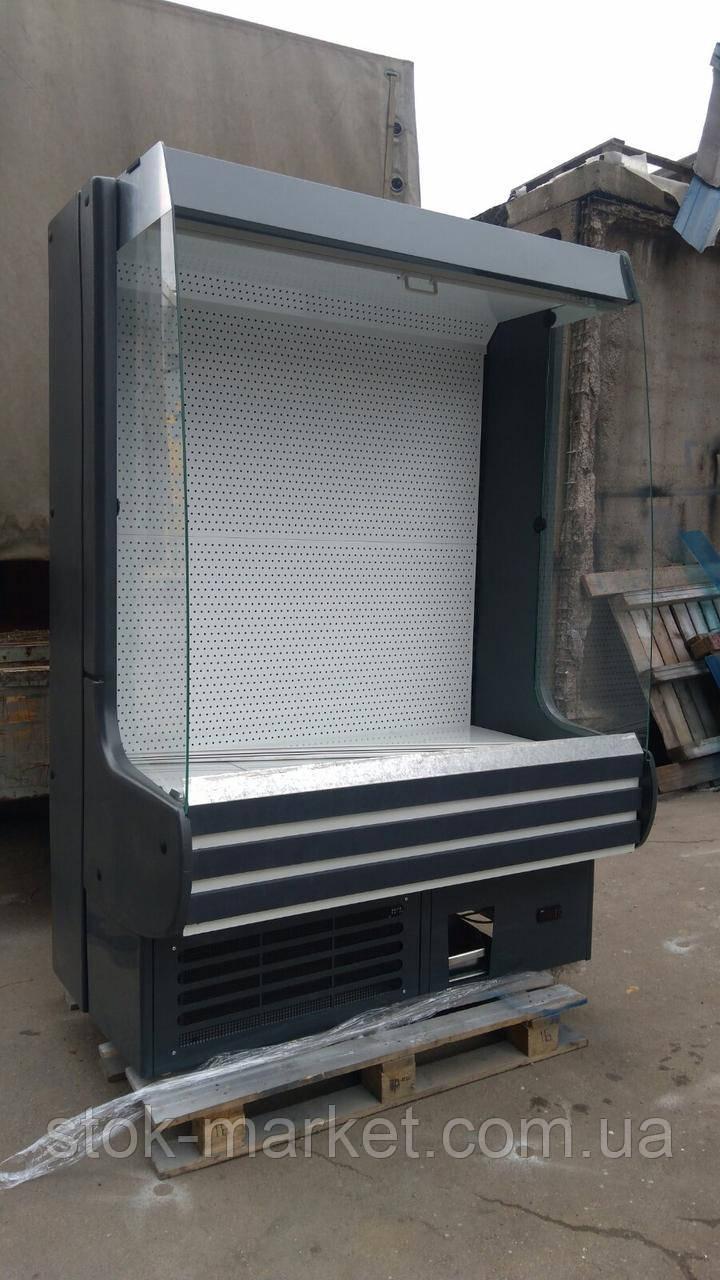 Холодильная горка Модена Росс 1,4м. б у, регал холодильный б у