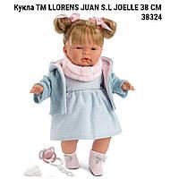 Кукла испанская Llorens Джоель 38cм  ТМ LLORENS JUAN S.L   производство Испания JOELLE 38 СМ