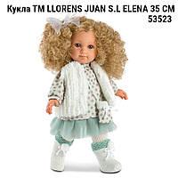 Кукла Llorens 53523 ТМ LLORENS JUAN S.L Елена  производство Испания ELENA 35 СМ