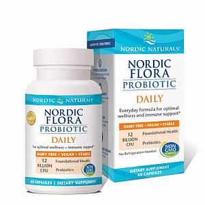 Nordic Naturals комплекс пробиотиков Nordic Flora Probiotic Daily, 60 капсул