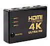HDMI сплітер 4K перемикає з 3 входів ->1 екран ТБ switcher свіч UH-301