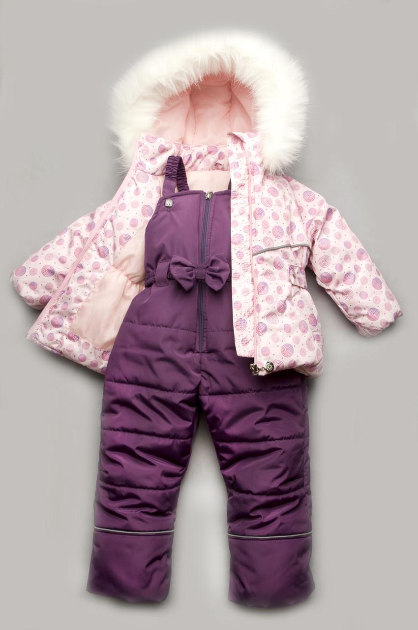 """Зимний детский костюм-комбинезон """"Bubble pink"""" для девочки - Интернет - Магазин """"Микс Мода"""" в Одесской области"""