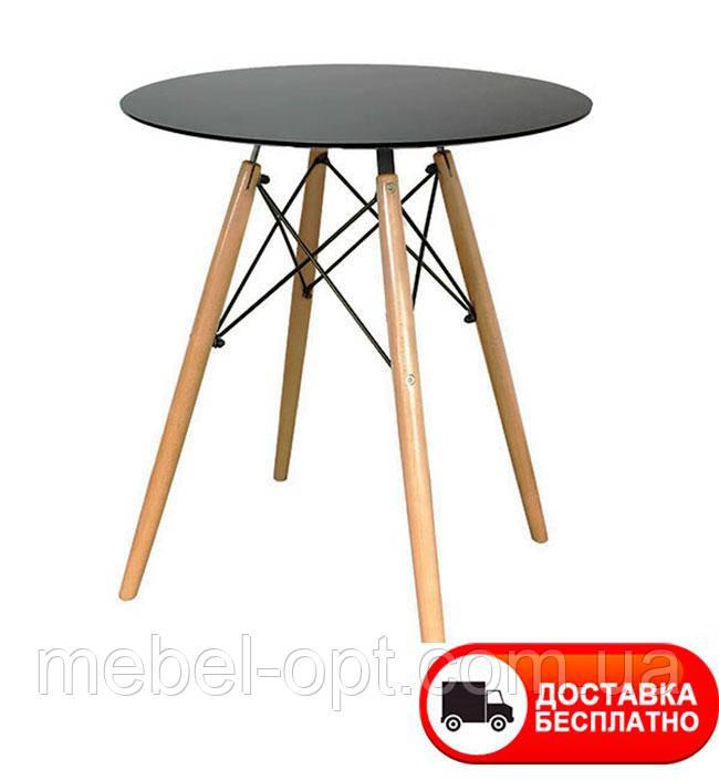 Стол обеденный Тауэр Вуд круглый черный диаметр 60 см Eames DSW Table Царапины на столешнице!