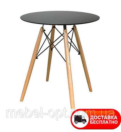 Стол обеденный Тауэр Вуд круглый черный диаметр 60 см Eames DSW Table Царапины на столешнице!, фото 2