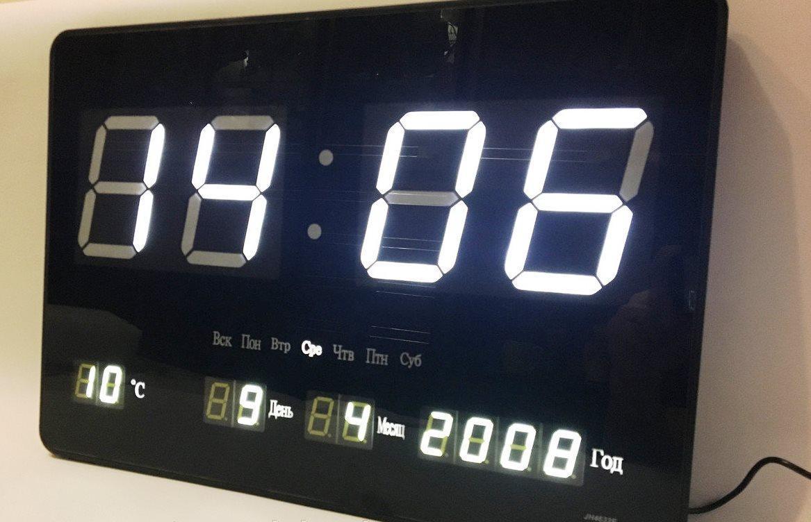 Электронные часы (подсветка: синяя)