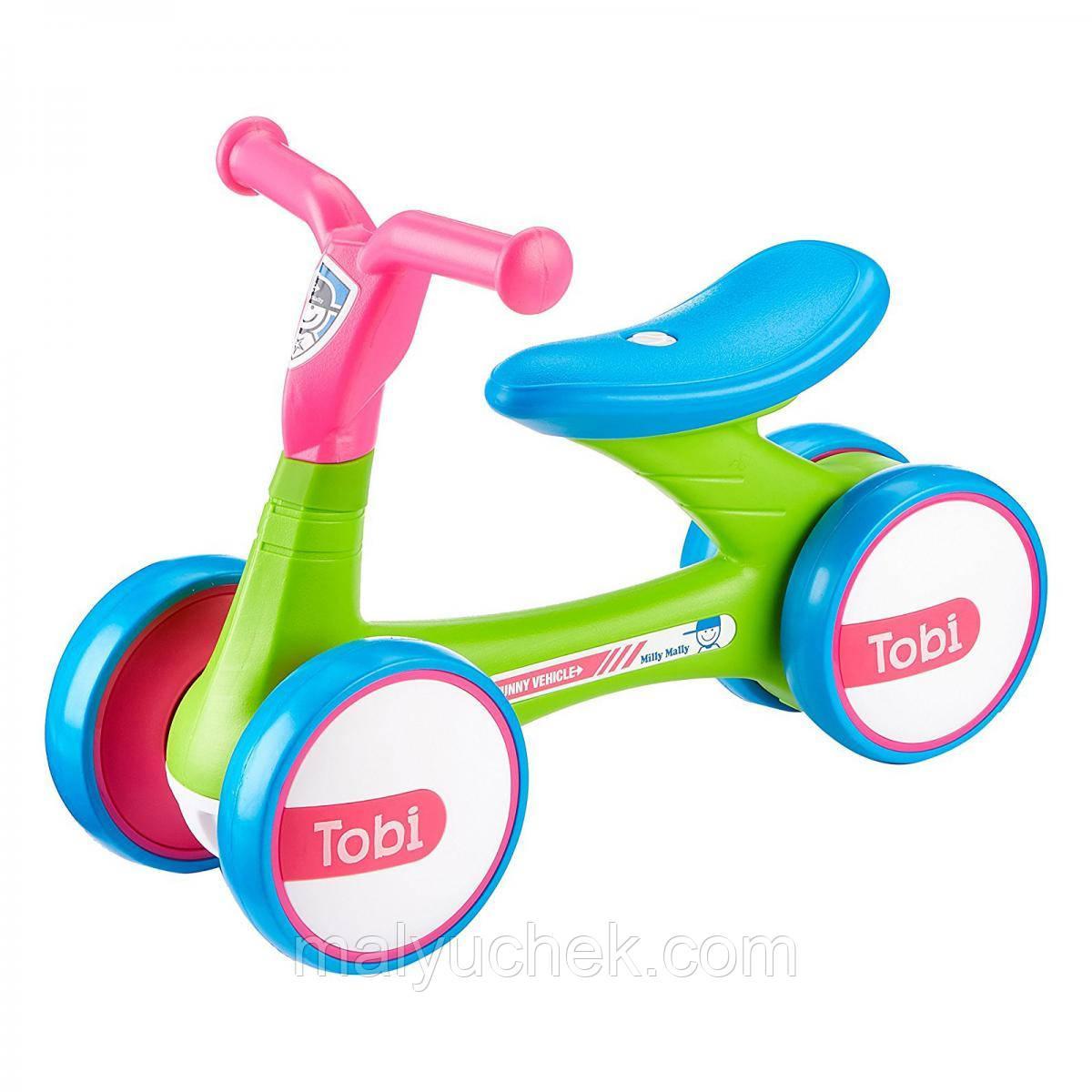 Беговел Ride on Tobi Pink-Green, Milly Mally (5901761123067)