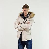 Куртка мужская зимняя Snowimage с капюшоном 46 бежевый 102-9189