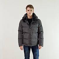 Куртка мужская зимняя Snowimage с капюшоном 50 темно-серыйй 104-9149