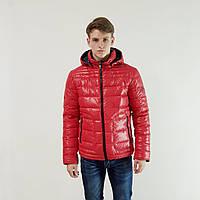 Куртка мужская зимняя Snowimage с капюшоном 46 красный 105A-1147