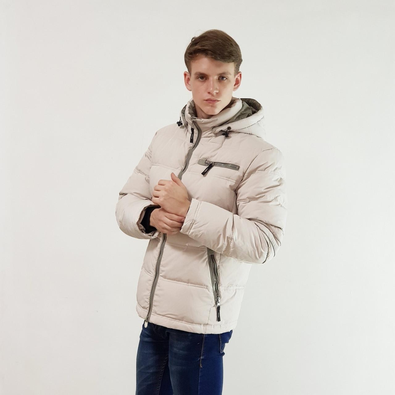 Куртка мужская зимняя Snowimage с капюшоном 46 бежевый 105A-9189