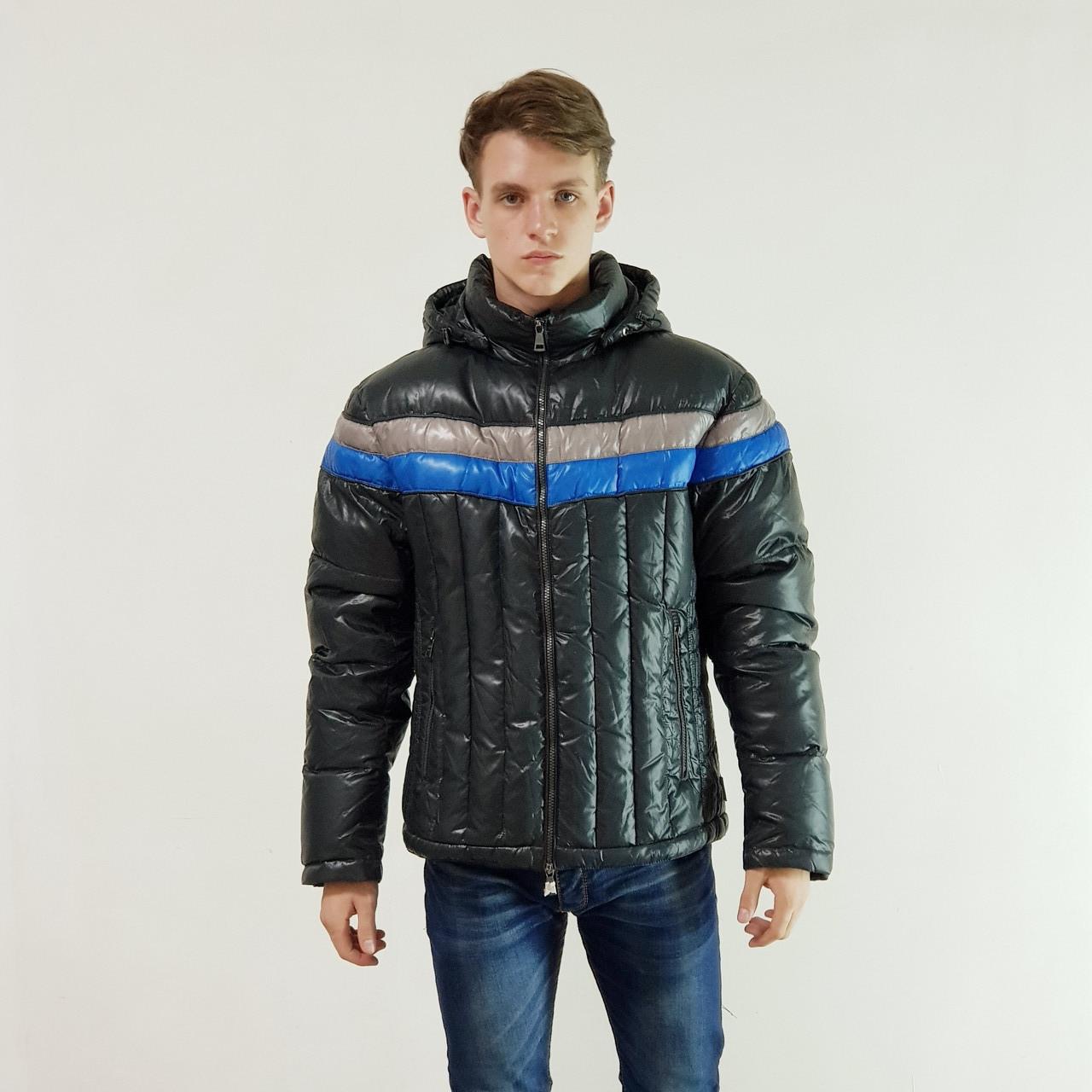 Куртка мужская зимняя Snowimage с капюшоном 52 темно-серы 109-9077