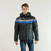 Куртка мужская зимняя Snowimage с капюшоном 52 темно-серы 109-9077, фото 1