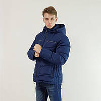 Куртка мужская зимняя Snowimage с капюшоном 50 синий 115A-3334, фото 1