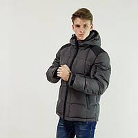 Куртка мужская зимняя Snowimage с капюшоном 46 темно-серый 118А-9149