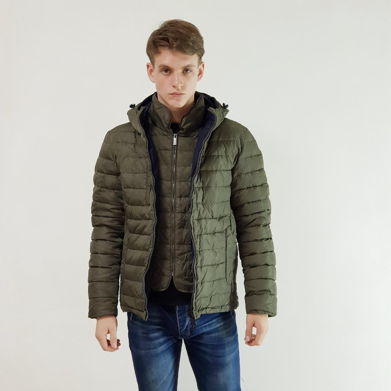 Куртка мужская зимняя Snowimage с капюшоном 46 оливковый 119-4413