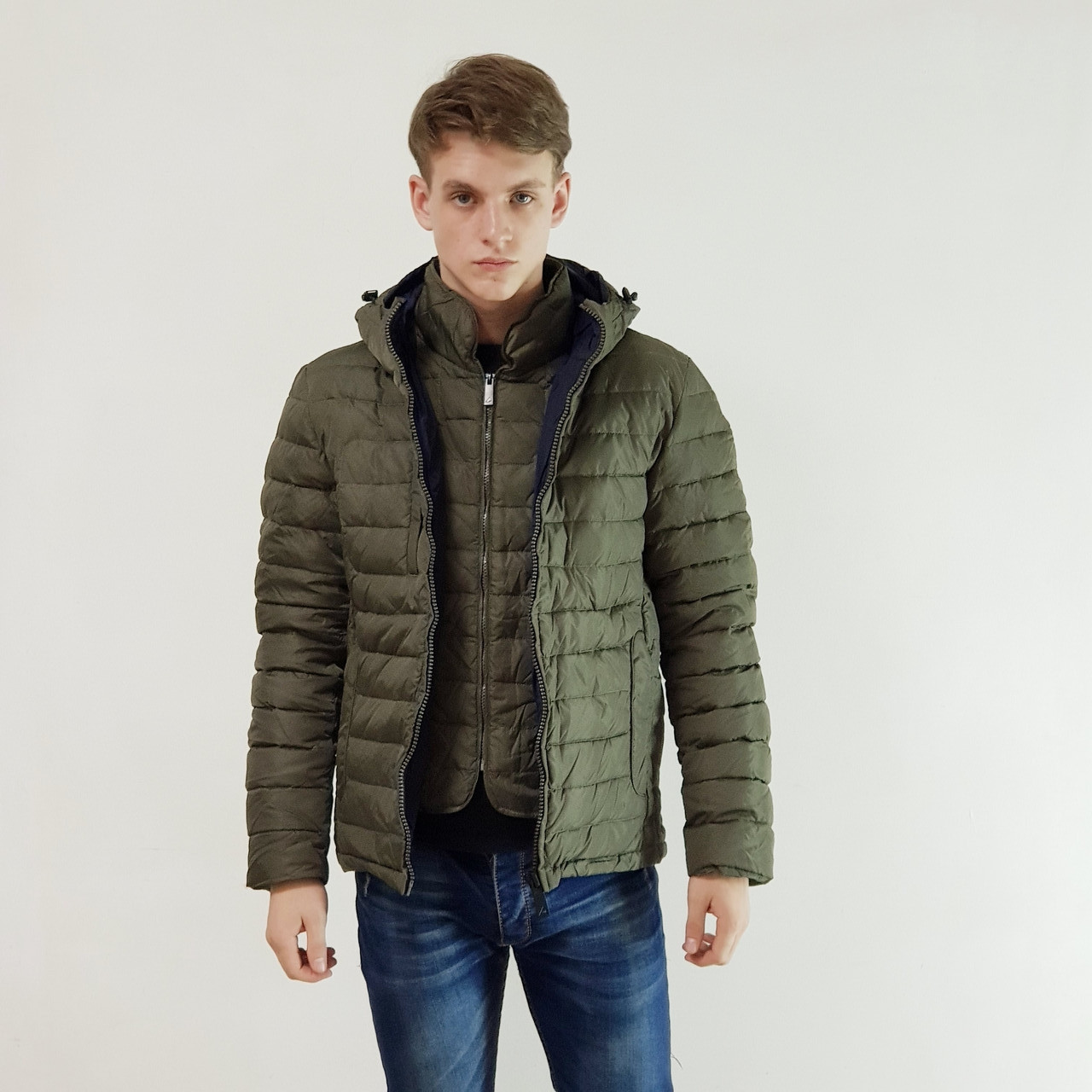Куртка мужская зимняя Snowimage с капюшоном 50 оливковый 119-4413