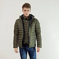 Куртка мужская зимняя Snowimage с капюшоном 50 оливковый 119-4413, фото 1