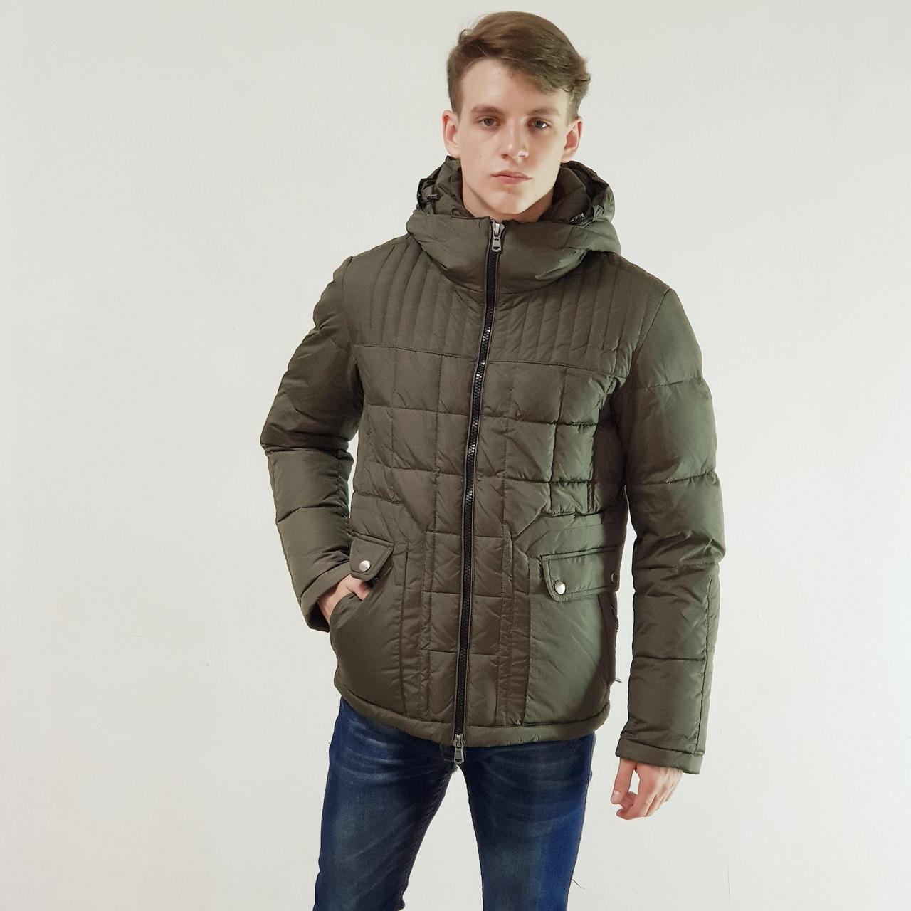 Куртка мужская зимняя Snowimage с капюшоном 50 оливковый 124-4413