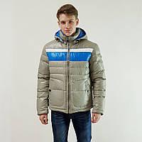 Куртка мужская зимняя Snowimage с капюшоном 46 светло-серый 128A-9188