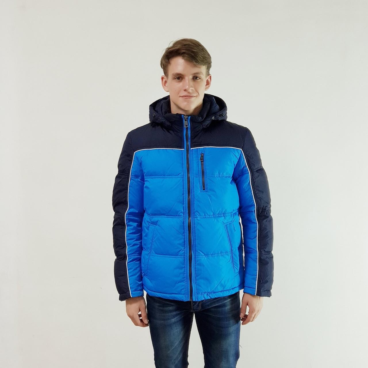 Куртка мужская зимняя Snowimage с капюшоном 54 голубой 131-3357-54