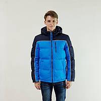 Куртка мужская зимняя Snowimage с капюшоном 54 голубой 131-3357-54, фото 1
