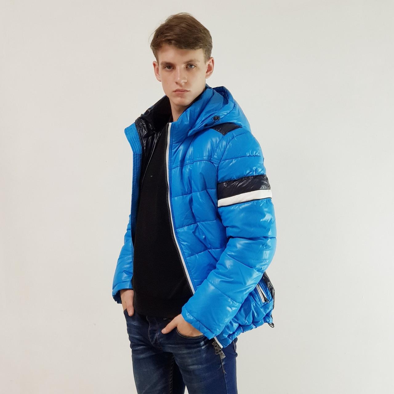 Куртка мужская зимняя Snowimage с капюшоном 52 голубой 132-3341