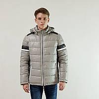 Куртка мужская зимняя Snowimage с капюшоном 48светло-серый 132-9354, фото 1