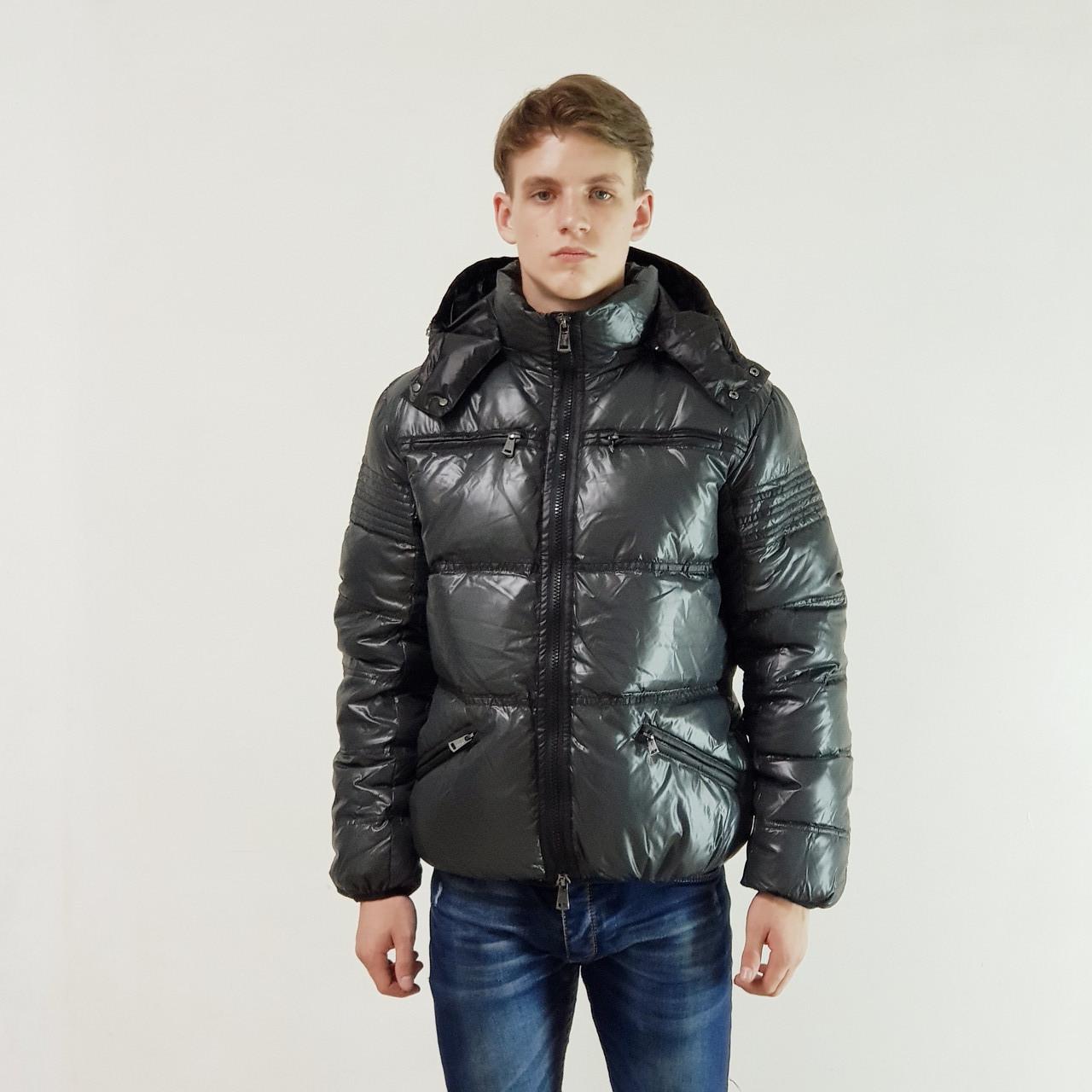 Куртка мужская зимняя Snowimage с капюшоном 46 темно-серый 133-9077