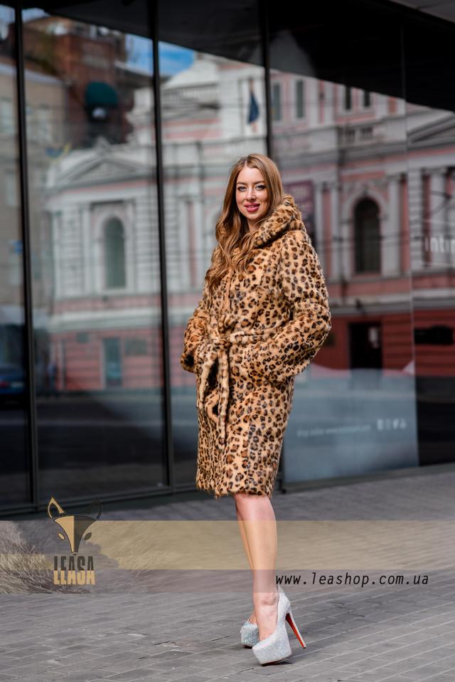 Шуба с леопардовым принтом, ФОТО