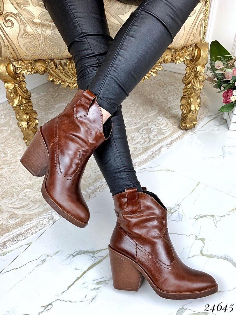 Ботинки казаки кожаные натуральная кожа В наличии и под заказ