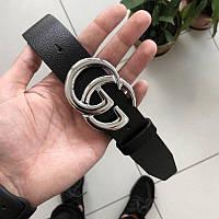 Мужской кожаный ремень Gucci, Гуччи ширина 4 см