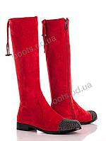 """Сапоги демисезонные женские """"Diana"""" #Y125-M834 red. р-р 36-41. Цвет красный. Оптом"""