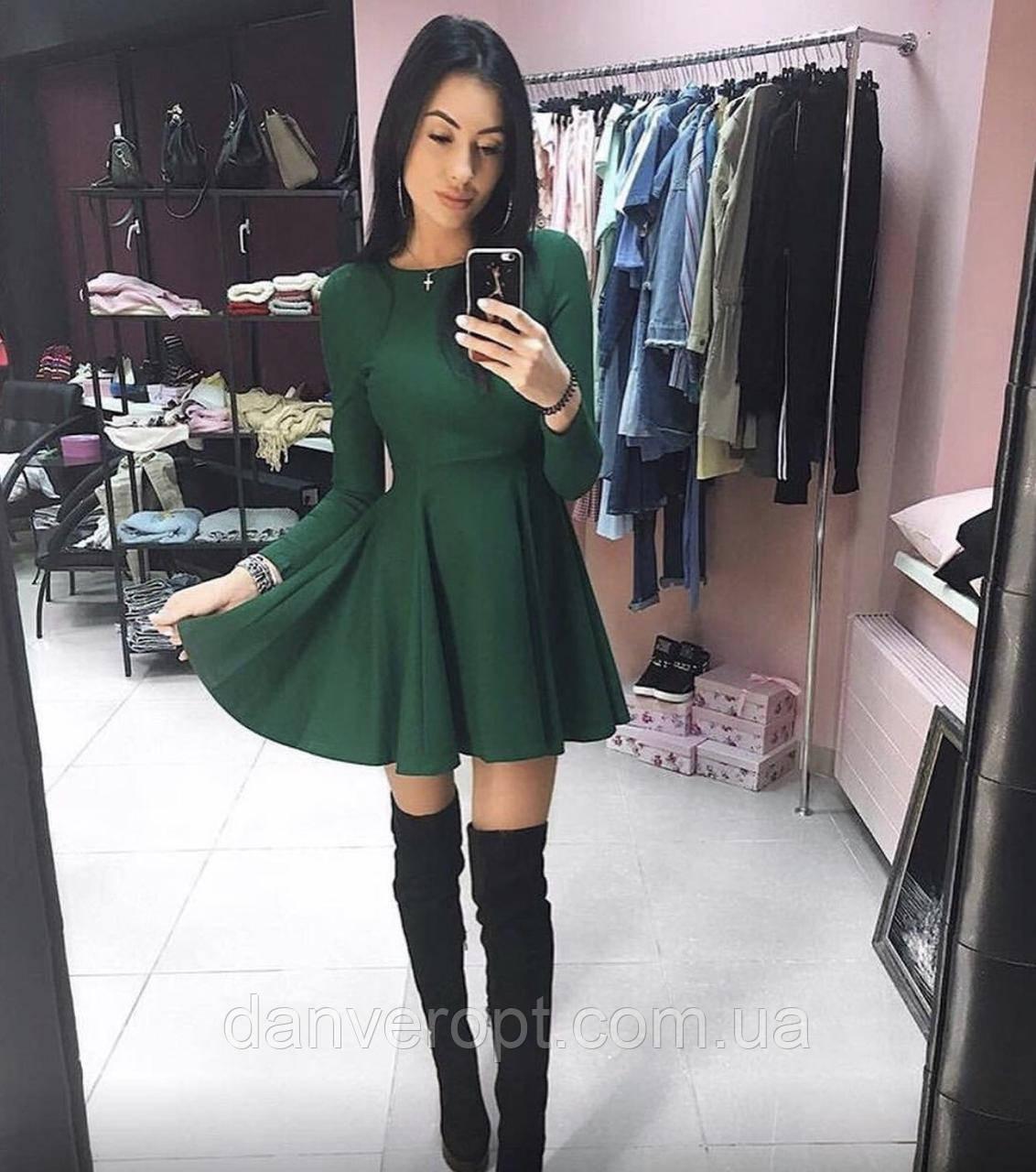 Платье женское стильное модное размер 42-46 купить оптом со склада 7км Одесса