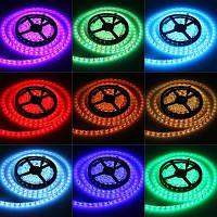 Світлодіодна стрічка SMD RGB 5050 60 LED/m IP 65 герметична, фото 1