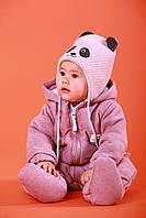"""Детский теплый комбинезон """"Noble"""" сиреневый. Размеры 62,68,74 (сезон весна-осень), фото 1"""